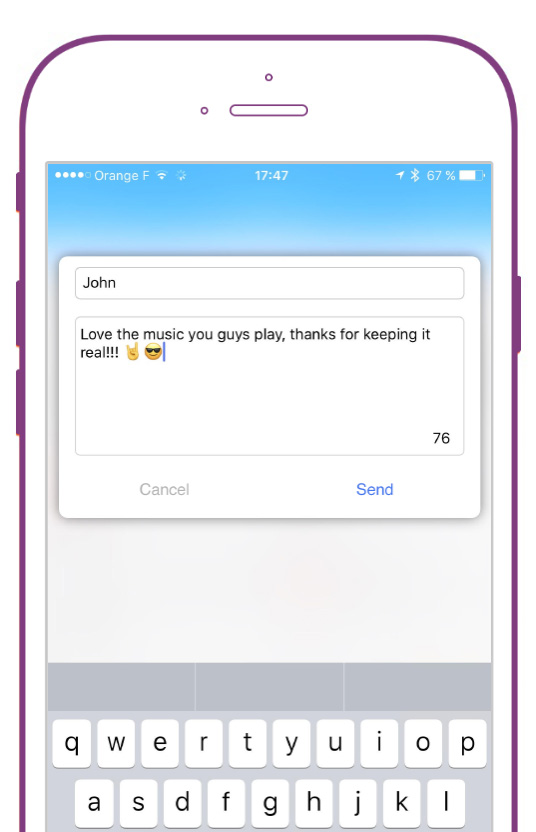 Envoyer des dédicaces sur votre Application Mobile Radio