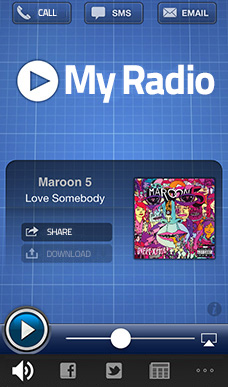 Create online your mobile app radio