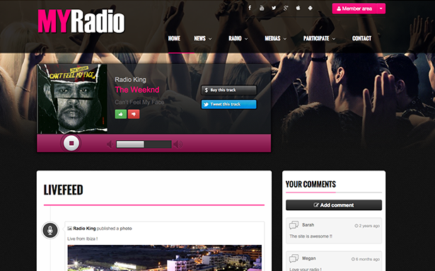 Create a website for your radio station